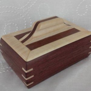 Artist Signed (J Docherty) Handcrafted Wooden  Box